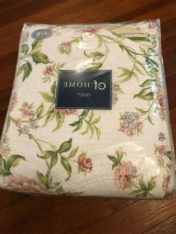 C&F Home 100% Cotton Pink Brianna  Floral Quilt - Full/ Quee