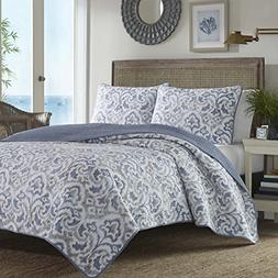 Tommy Bahama Cape Verde Smoke Quilt Set, Full/Queen