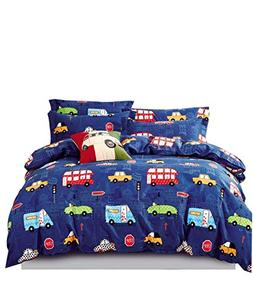 Cliab Car Bedding Sets Queen Size for Boys Girls Kids Purple