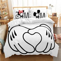 Disney Cartoon Mickey Minnie <font><b>Bedding</b></font> Set