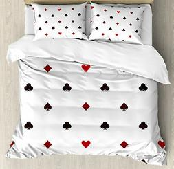 Casino Duvet Cover Set with Pillow Shams Gambling Club Minim