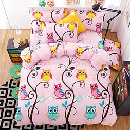 4pcs Children Bedding Set Cantoon One Duvet Cover Without Co