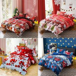 Christmas Duvet Cover Bedding Sets Bed Linens Printed Colorf