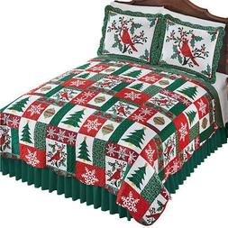 christmas icons quilt holiday colors full queen