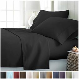 Home Collection Premium Double Brushed 4 Piece Bed Sheet Set