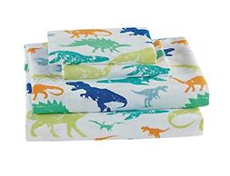 Luxury Home Collection Kids 4 Piece Full Sheet Set Dinosaur