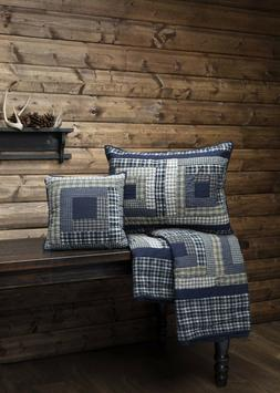 Columbus Bedding ACCESSORIES - Navy, Green, Tan - Curtains,