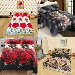 Comfortable Bedding Set Queen King Size Fitted Sheet Bed Cov
