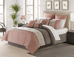 Safdie & Co. Comforter 7PC Alysha Set Q Pink, Queen