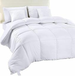 Comforter Duvet Insert White Quilted Down Alternative Box De