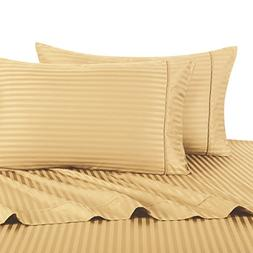 Sheetsnthings 100% Cotton, Bed Sheet Set - 600TC, Queen Gold