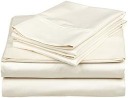 Rajlinen 100% Cotton Bed Sheet Set - 300 Thread Count Sateen