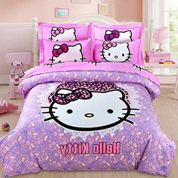 CASA 100% Cotton Brushed Kids Bedding Girls Hello Kitty Duve