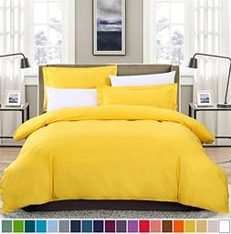 SUSYBAO 100% Natural Cotton 3 Pieces Duvet Cover Set Queen S