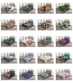Ambesonne Coverlet Set with Shams Quilted Bed Cover Bedsprea