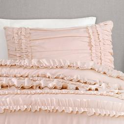 Lush Décor Belle 3 Piece Ruffled Comforter Set with Bed Ski