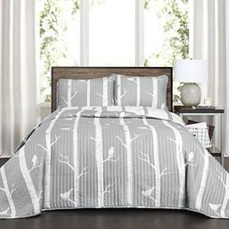 Lush Decor Lush Décor Bird on the Tree 3 Piece Quilt Set, K