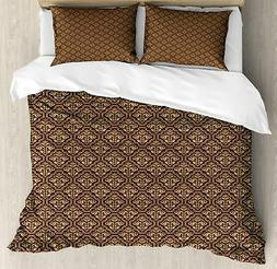 Damask Ambesonne Duvet Cover Set Twin Queen King Sizes with