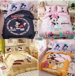 Mickey Mouse DISNEY 100%Cotton Duvet Cover Bedding Set Kids