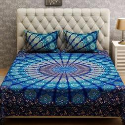 Double Queen Size Bedding Bedspread Throw Indian Mandala Tap