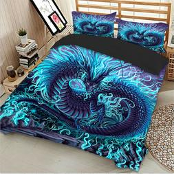 HD Dragon Animal Duvet Cover Set Twin/Queen/King Size Beddin