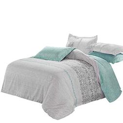 Wake In Cloud - Gray Duvet Cover Set, Reversible with Grey T