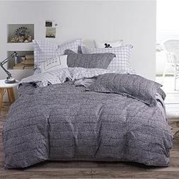 Uozzi Bedding 3 Piece Duvet Cover Set with Zipper Closure,Gr