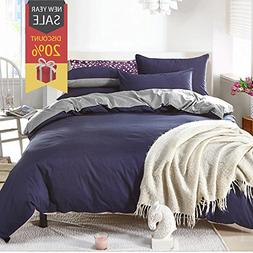Uozzi Bedding Duvet Cover Set Queen Full, 3PC Reversible wit