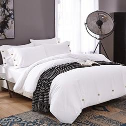 NANKO Duvet Cover Set Queen, 3 Piece - 1200 TC Hotel Luxury