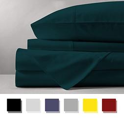 Mayfair Linen 100% EGYPTIAN COTTON Sheets, TEAL QUEEN Sheets