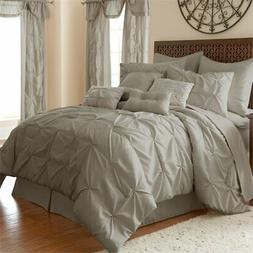 Ella 8-piece Embellished Comforter Set Queen Sand