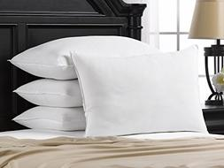 Ella Jayne Home Soft Queen Size Bed Pillows- 4 Pack White Ho