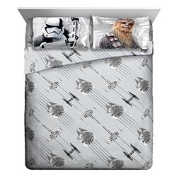 Star Wars Ep 8 Epic Poster Gray 4 Piece Queen Sheet Set with