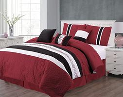 Unique Home 7 Piece Eva Patchwork Bed in a Bag Comforter Set