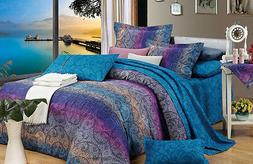 Fantasia 100% Cotton Bedding Set: 1 Duvet Cover 2 Pillow Sha