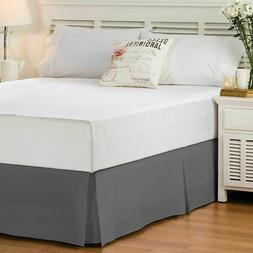 """Pleated Tailored Hotel Collection Bed Skirt 14"""" Drop King"""