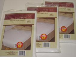 Fitted Plastic Mattress Protector - Lightweight Cover, Bed W