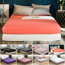 MOHAP Fitted Sheet Bed Sheets Deep Pocket, Elastic All Aroun