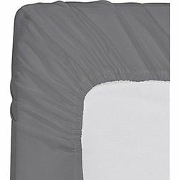 "Utopia Bedding Fitted Sheet Queen,Grey Home "" Kitchen"