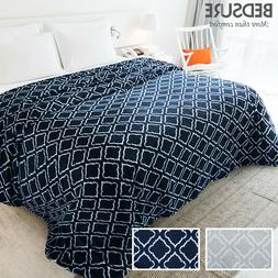 flannel fleece blanket printed lattice scroll blanket