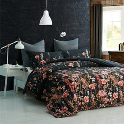 Floral Queen Size Comforter with Pillow Cases Set Reversible