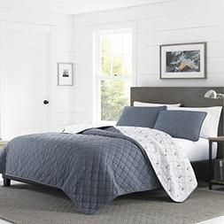 Eddie Bauer Freestone Quilt Set, Full/Queen, Navy