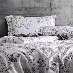 French Country Garden Toile Floral Printed Duvet Quilt Cover