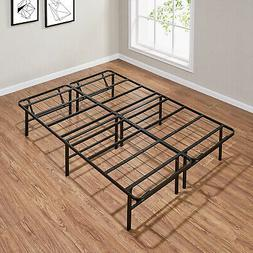 Full Size Platform Bed Frame Metal Heavy Duty 14 Inch Mattre