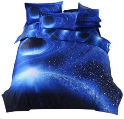 Cliab Galaxy Bedding Kids Boys Girls Queen Size Outer Space