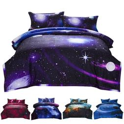 Galaxy Comforter Set Reversible Quilt Sky Outer Space Beddin