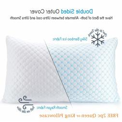 Cooling Memory Foam Pillow - Ventilated Soft Bed Pillow Infu