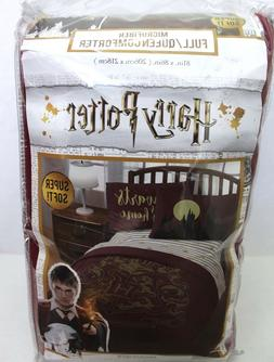 Harry Potter Gold Foil Hogwarts Crest Full/Queen Comforter O