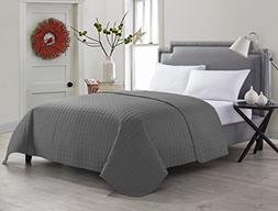 VCNY Home Jackson Coverlet, Full/Queen, Grey