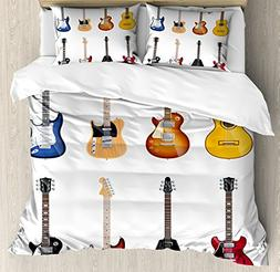 Ambesonne Guitar Duvet Cover Set Queen Size, A Wide Variety